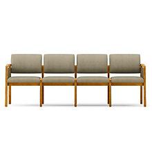 Lenox Panel Arm Four Seat Fabric Sofa, LES-L4131G6F