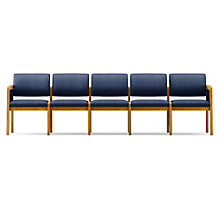 Lenox Panel Arm Five Seat Fabric Sofa, LES-L5131G6F