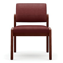 Lenox Armless Vinyl Guest Chair, LES-L1132G6V