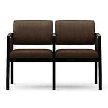 Lenox Panel Arm Two Seat Vinyl Sofa with Center Arm, LES-L2133G6V