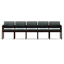 Lenox Panel Arm Five Seat Vinyl Sofa, LES-L5131G6V