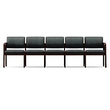 Lenox Panel Arm Five Seat Vinyl Sofa, LES-L5131G6V