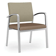 Newport 400 lb. Capacity Guest Chair with Fabric Back and Vinyl Seat, 8802993