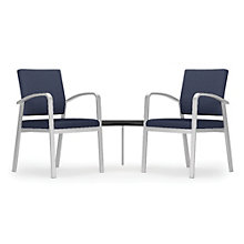Newport Double Guest Chair with Corner Table in Solid Fabric, 8803000