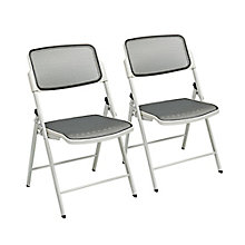 ProLine Deluxe Folding Chair in Mesh - Set of 2, 8802343