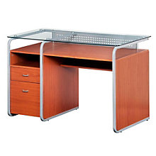 Dark Honey Computer Desk with File Cabinet, RTP-3327