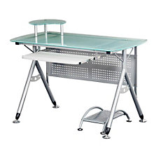 Glass Top Computer Desk, RTP-3784