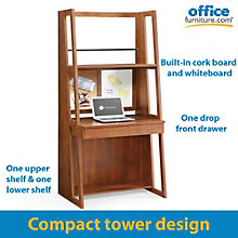 "Highland Contemporary Compact Tower Computer Desk - 36"", 8801314"