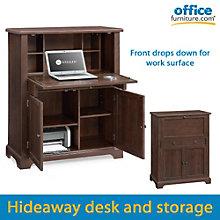 "Wesleyan Compact Drop Front Secretary Desk - 37"", 8801316"