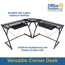 "SoHo L Shaped Corner Computer Desk - 58""W, 8802376"