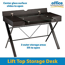 "Rexton Glass Surface Lift Top Desk - 44.25""W, 8802700"