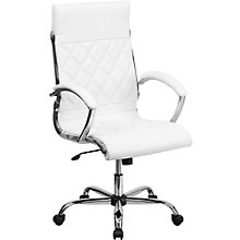 Whittier High Back Quilted Chair in Bonded Leather, 8803015