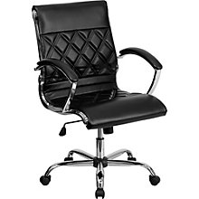 Whittier Mid-Back Quilted Task Chair in Bonded Leather, 8803016