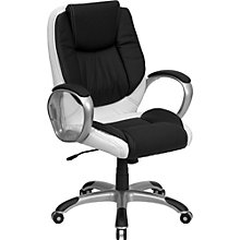 Elmwood Two-Tone Task Chair in Bonded Leather, 8803017