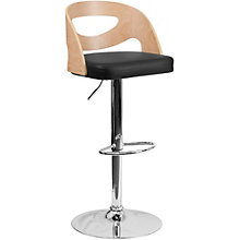 Hobbs Vinyl Seat Breakroom Stool with Wood Back, 8803029