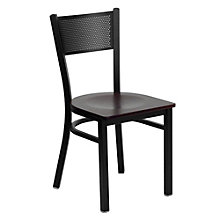 Jackson Metal Mesh Back Cafe Chair with Wood Seat, 8803711