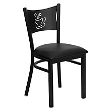 Jackson Coffee Back Design Cafe Chair with Vinyl Seat, 8803712