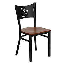 Jackson Coffee Back Design Cafe Chair with Wood Seat, 8803713