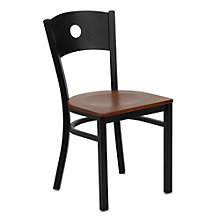 Jackson Circle Back Design Cafe Chair with Wood Seat, 8803715