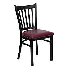 Jackson Vertical Slat Back Cafe Chair with Vinyl Seat, 8803716