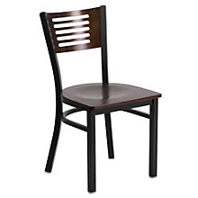 Jackson Horizontal Cutout Back Cafe Chair with Wood Seat, 8803725