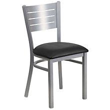 Jackson Metal Slat Back Cafe Chair with Vinyl Seat, 8803730