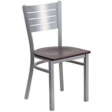 Jackson Metal Slat Back Cafe Chair with Wood Seat, 8803731