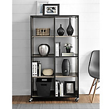 Mason Ridge Eight Shelf Mobile Bookcase , 8803959