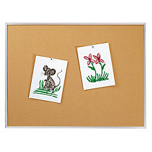 Natural Cork Board with Aluminum Frame 8'W x 4'H, 8804195