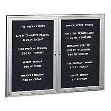 Enclosed Indoor Directory Board 5'W x 4'H, 8804203