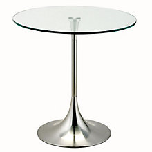 Coronet Glass Top Round End Table, 8801539