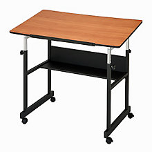 MiniMaster II Four-Post White Drafting Table, ALV-MM40-4-XB