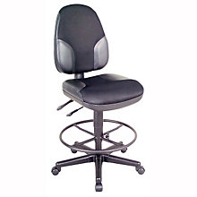 Monarch Armless Leather Drafting Stool, ALV-CH555-95DH