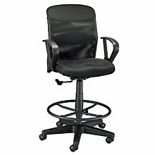 Salambro Jr Black Mesh Back Drafting Chair, ALV-DC724-40