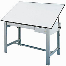 DesignMaster Four-Post Drafting Table with Gray Base, ALV-DM60CT