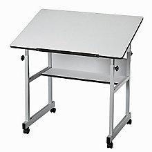 MiniMaster Four-Post White Drafting Table, ALV-MM36-5
