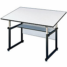 WorkMaster Junior Four-Post Drafting Table with Black Base, ALV-WMJ48-3-XB
