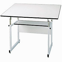 WorkMaster Four-Post Drafting Table with White Base, ALV-WM48-4-XB