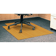 "Standard Bamboo Chair Mat, 36"" x 48"" with Lip, 5mm Thick, ANJ-AMB24003"
