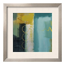 "Framed 27"" x 27"" Cool Lines and Circles Print by Lanie Loreth, ARS-10406"