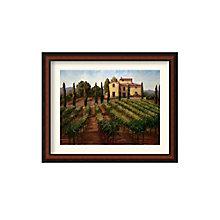 Framed Art Print- Hilltop Villa by Susan Hoehn, 8801457
