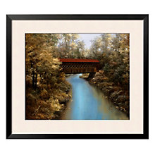 "Framed 37"" x 31"" Covered Bridge Print by Diane Romanello, ARS-10307"