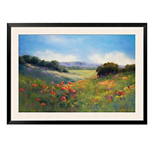 "Framed 43"" x 32"" Poppies Print by Alice Weil, ARS-10310"