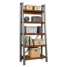 Ridgemont Five Shelf Leaning Bookcase, 8804714