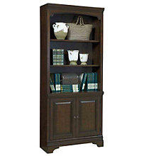 "Oakdale Five Shelf Bookcase With Doors - 77.5""H, 8803567"