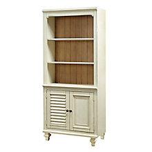 """Coronado Two Tone Bookcase with Doors - 72""""H, 8804729"""