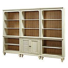 """Coronado Two Tone Bookcase Wall - 72""""H, 8804895"""