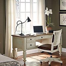 Coronado Bowfront Half Pedestal Desk and Chair Set, 8804899