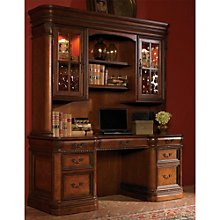 "Bordeaux Rope Twist Detail Credenza and Hutch- 72""W, 8803670"