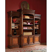 "Bordeaux 16 Shelf Bookcase Wall with Doors - 84.5""H, 8803672"